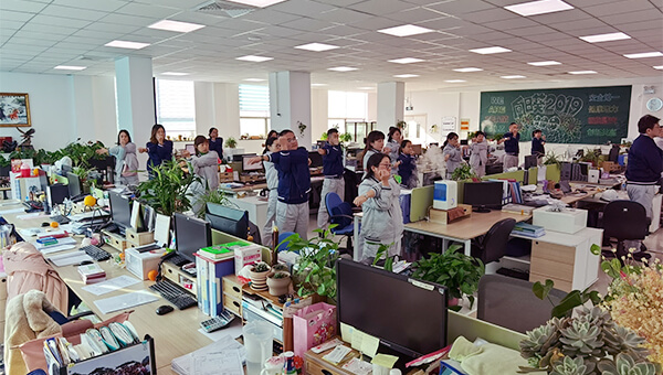 Better working environment and stretching exercises in a Chinese affiliate