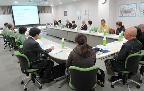 Meeting to exchange opinions at Nagoya Works