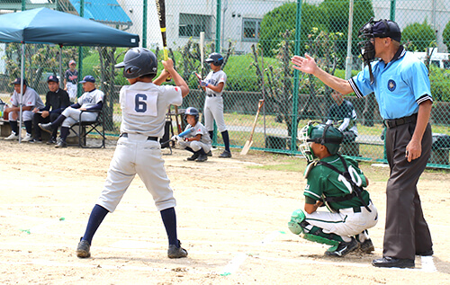 Junior rubber baseball tournament at Osaka Works