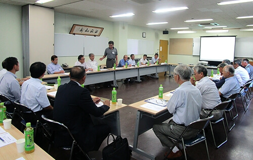 Meeting to exchange opinions at Iwakuni-Ohtake Works