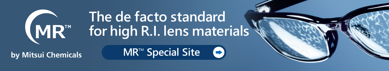 The de facto standard for high R.I. lens materials MR™ Special Site