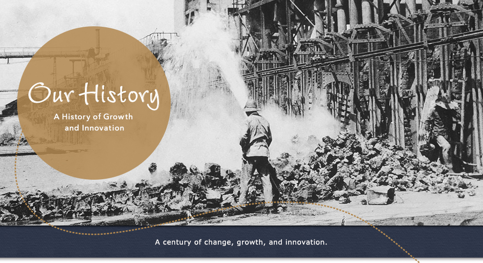 Our History --- A History of Growth and Innovation. A century of change, growth, and innovation.