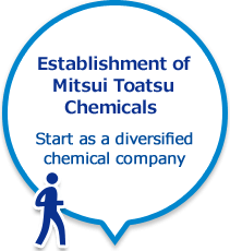 Establishment of Mitsui Toatsu Chemicals Start as a diversified chemical company