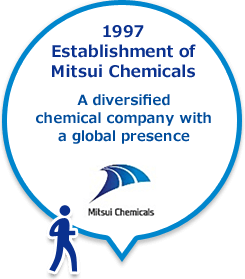 1997 Establishment of Mitsui Chemicals A diversified chemical company with a global presence