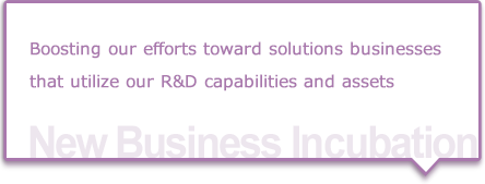 Create solution & system businesses through open innovations for future growth.